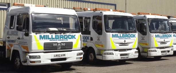 Rank of 3 Millbrook Recovery Trucks